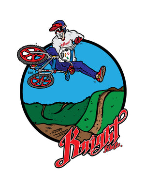 Knight Old School BMX Table Top Short Sleeve T-Shirt