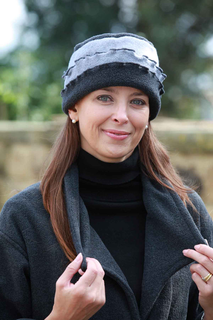 Fleece Hat Fluted in three colours.