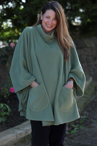 Fleece Poncho in 7 colours
