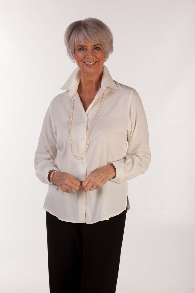 Tara Shirt in Winter white
