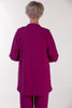 Cambridge Crepe Jacket in Rich Magenta  Size 16 only