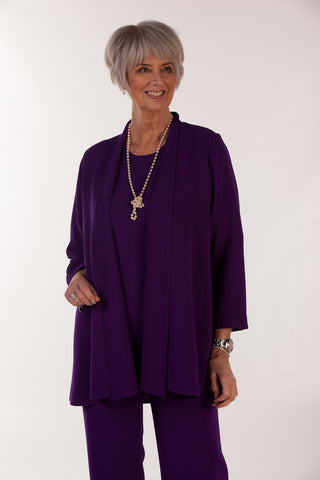 Cambridge Crepe Jacket in Deep Purple