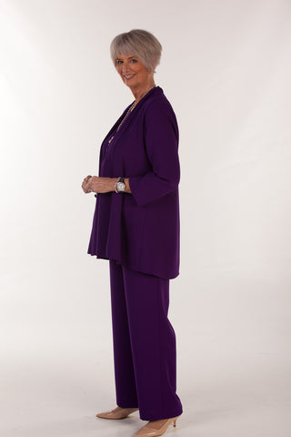 Como Trousers In Deep Purple sizes 12 - 24