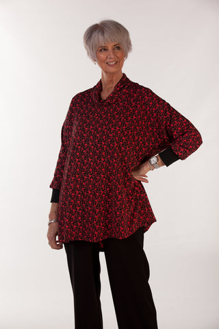 Sienna top in Black/red print 14/16 only