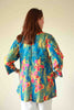 Nepal Top in Deep Turquoise print 18/20 only