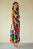 Kaleidoscope Sundress in pink/red/green print sizes 14 only