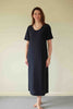 Morocco Long Dress in Navy  Pool Blue  Natural  and Black