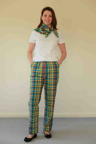 Calypso Checked Trousers in two colours