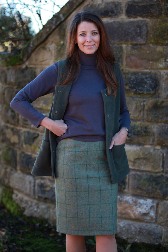 Buckden Pure Wool Tweed Skirt