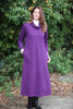 Weekender Long Jersey Dress in Grape - Cowl neckline