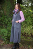 Calder long sleeveless fleece coat in Pewter Size 12/14 only