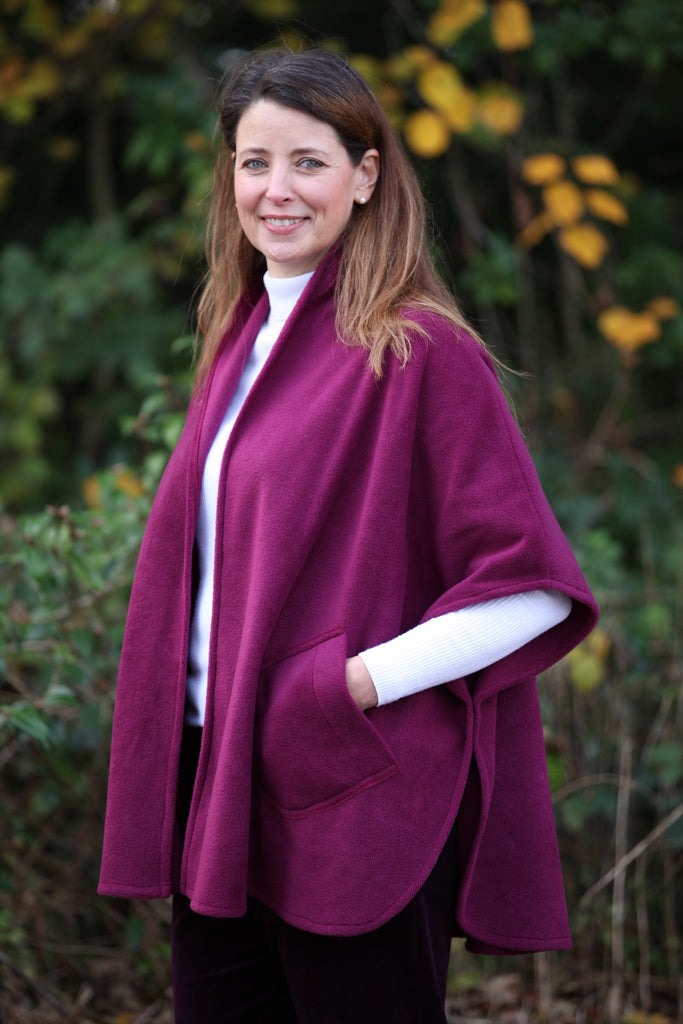 Classic Fleece Cape in 4 Colours