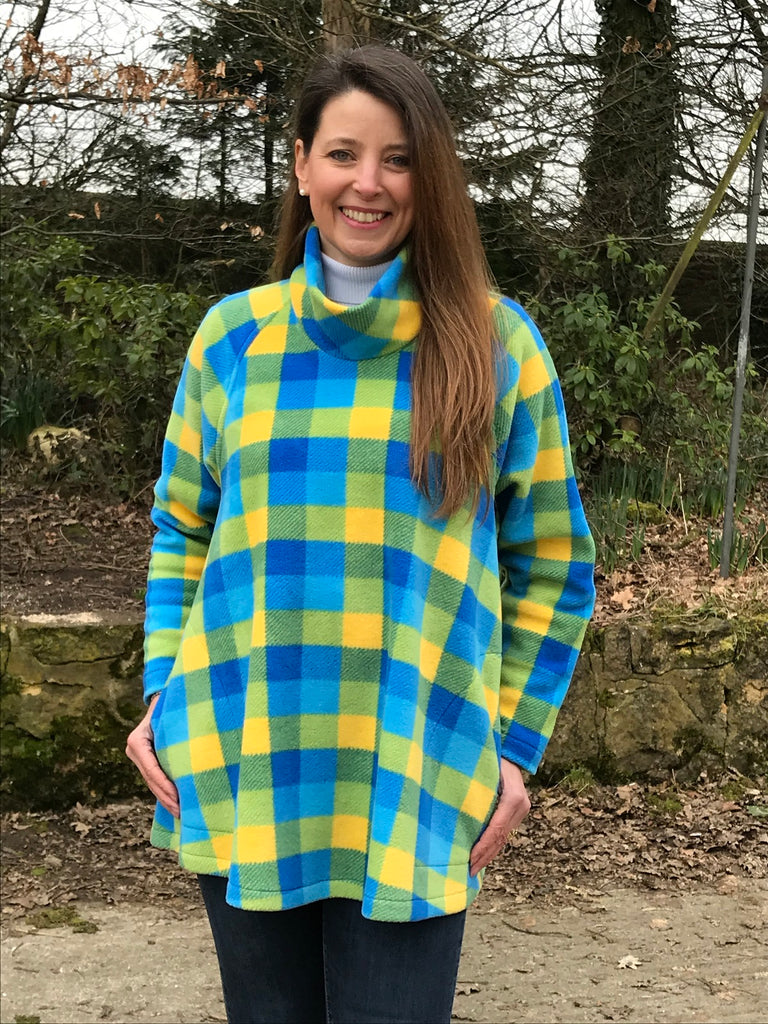 Limited edition Swaledale Swing Top in Turquoise/yellow check