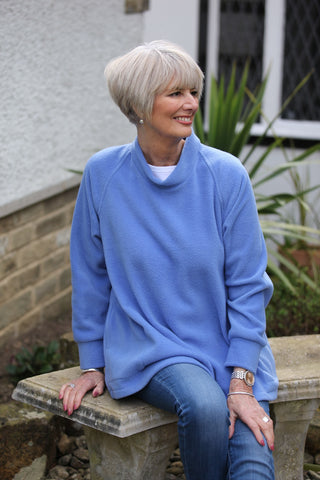 Swaledale Fleece Swing Top with small cowl neckline in 5 colours.
