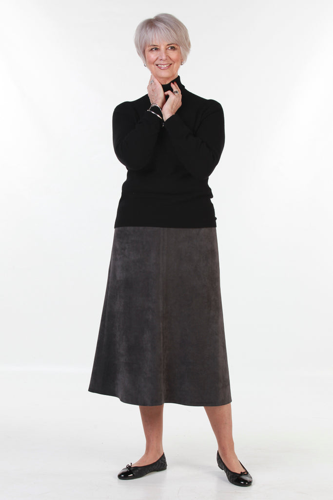 Bedale Skirt in Pewter cord Size 24 only