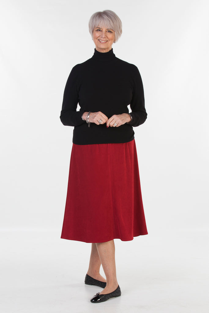 Bedale Suede effect A line skirt