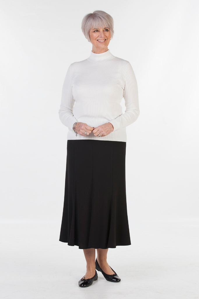 Stratford Jersey Skirt in Black