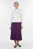 Stratford Jersey Skirt  in Grape Size 24 only