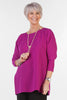 Joanna Oversized Crepe Top in Rich Magenta