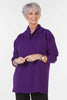 Joanna Oversized Crepe Top in Deep Purple
