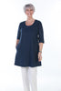 Island Tunic length Dress in Navy