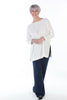 Joanna Oversized Crepe Top in Ivory