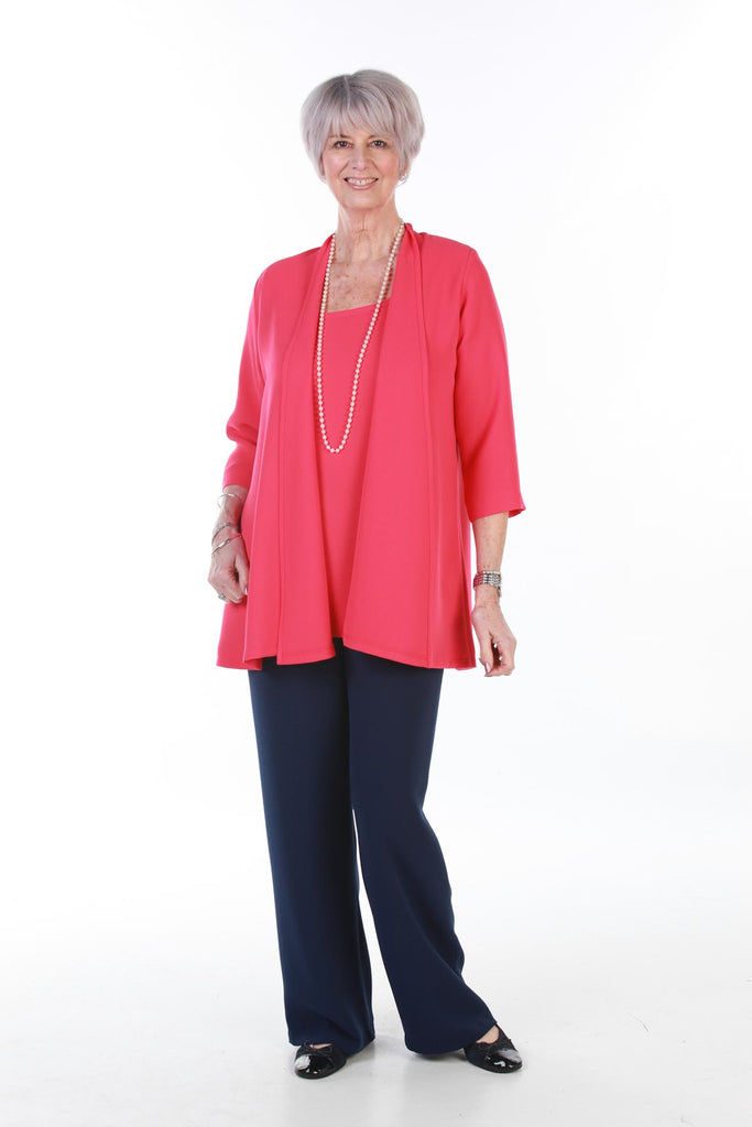 Cambridge Crepe Jacket in Coral
