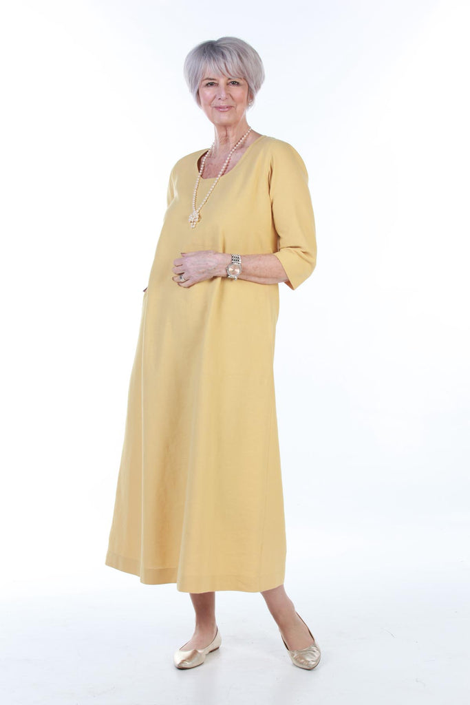 Island long Dress in Ochre size  22/24 only