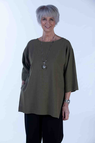 India Top in Olive