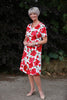 Summer Roses A line Dress  -  Size 14 and 20 only