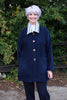 Tanfield Jacket in Navy with striped collar