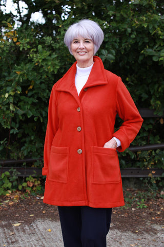 Tanfield Jacket in two colours - Rust and Royal Blue
