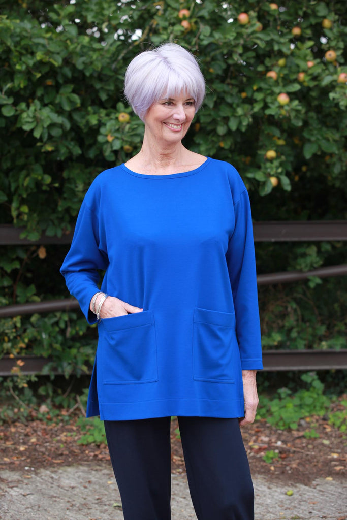 Joanna Oversized Tunic in Royal