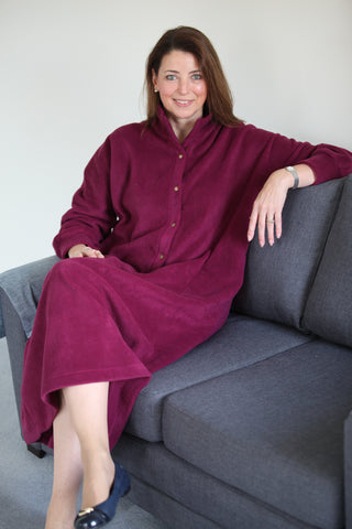 Fleece Kaftan - front opening in 4 colours and 3 lengths