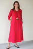 Weekender Long Jersey Dress in Scarlet