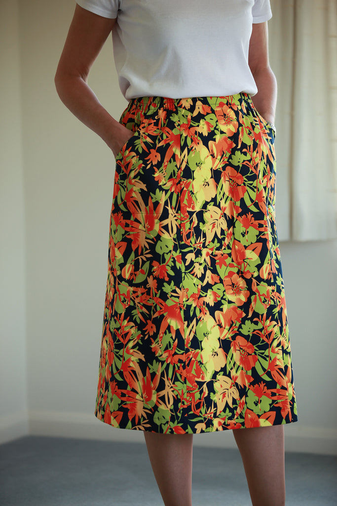 Cara Skirt - Tangerine treat in 3 lengths
