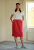 Denim Skirt in Red Brick