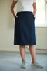 Denim Skirt in Dark Navy