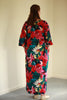 India Kaftan in Navy/red floral print Size 2 only