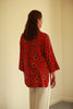 Bali Red Flower long Shirt