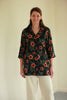 Bali Navy Flower long Shirt