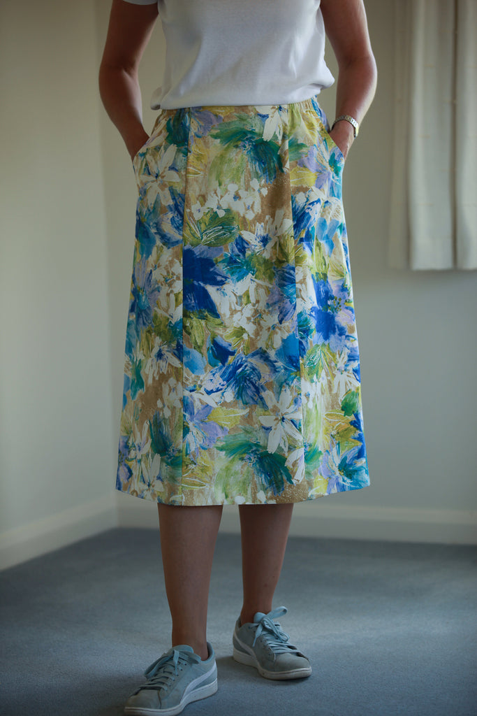 Cara Skirt - Blue/lime in 3 lengths