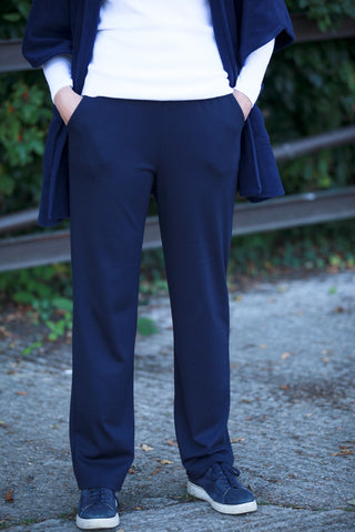 Cove Jersey Trousers in   Navy  Black  Grape and Grey
