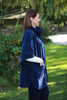 Wharfedale fleece Cape in Navy and Denim