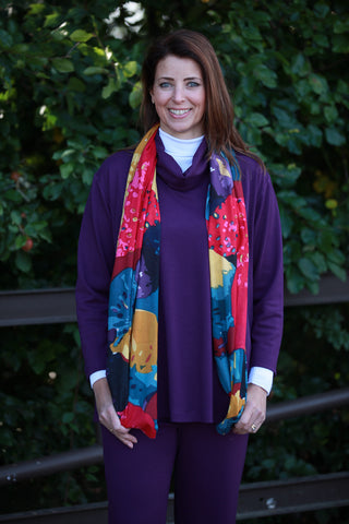 Pippa Grape/Red Multi Scarf
