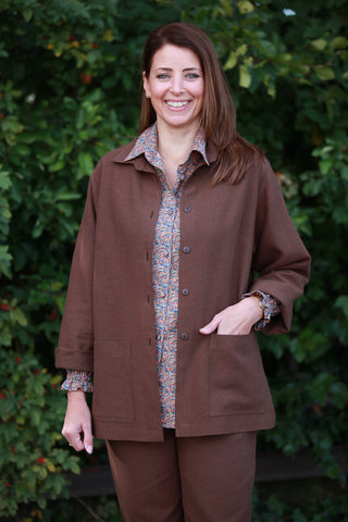 Georgia Jacket in Nut Brown