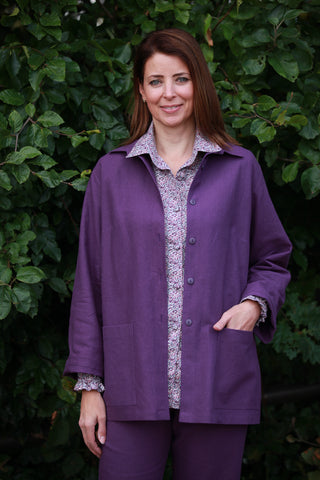 Georgia Jacket in Grape