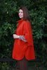 Wharfedale fleece Cape in  Rust and Purple