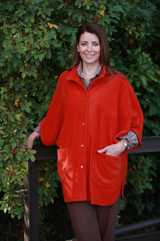 Wharfedale fleece Cape in  Rust