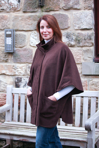 Wharfedale fleece Cape in  Chocolate
